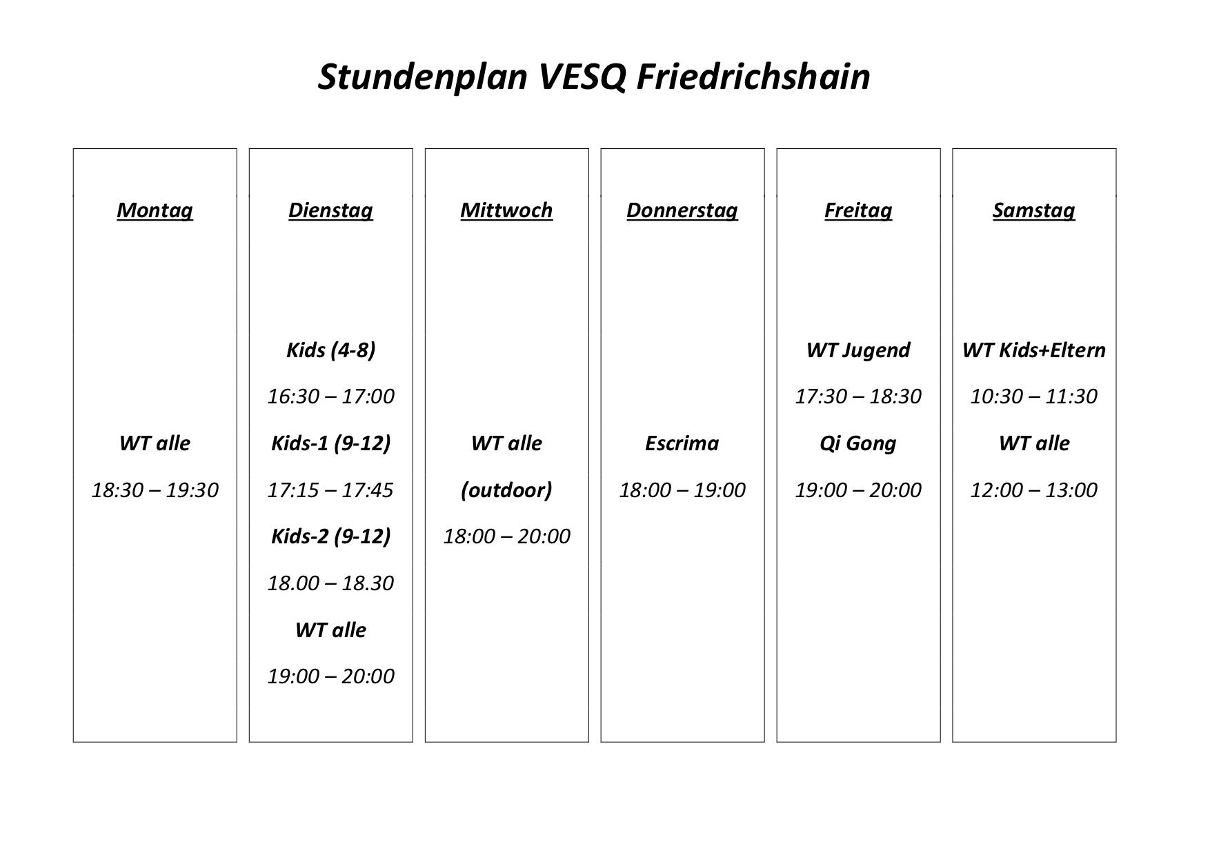 VESQ Pandemie-Stundenplan Finowstraße start nr 16-2