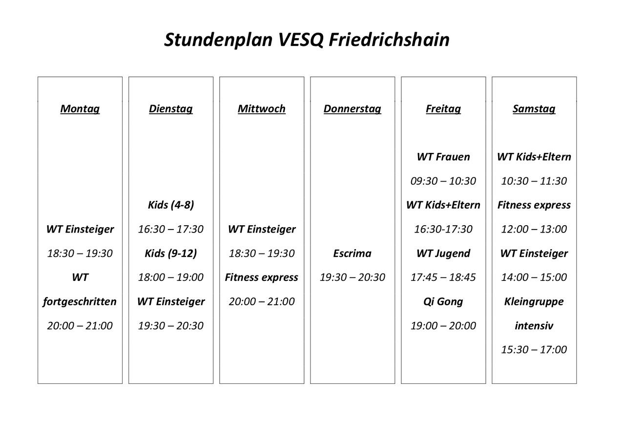 VESQ Stundenplan Finowstraße start nr 15